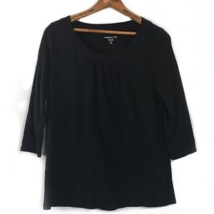 Coldwater Creek 3/4 Sleeve 100% Cotton Shirt